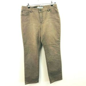 Chico's Brown Ultimate Slim Jeans 12 Short